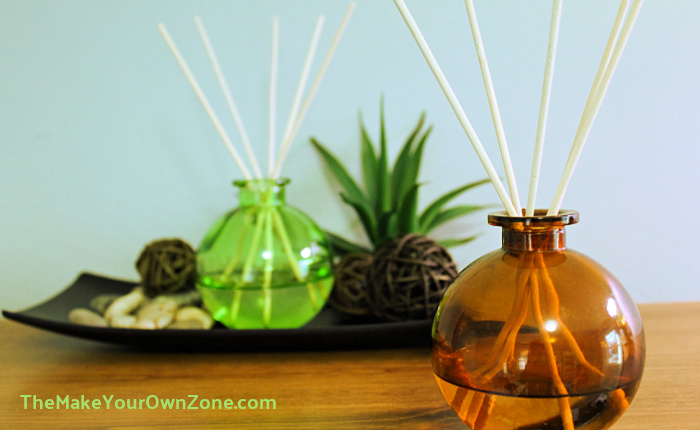 Homemade Reed diffuser liquid in small reed diffuser bottles