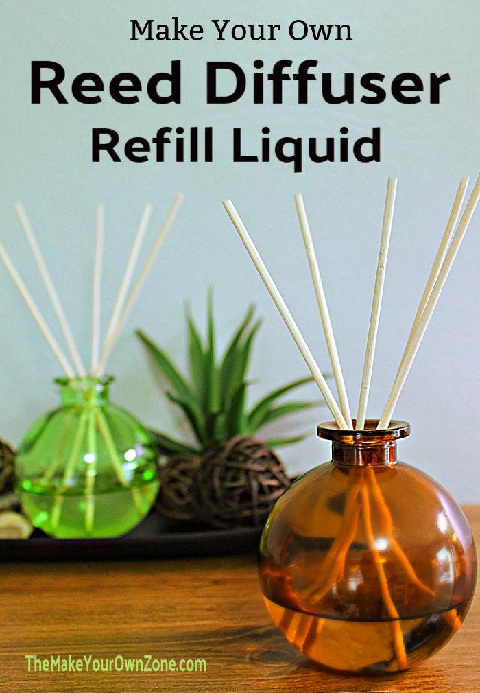 Reed Diffusorflaschen mit hausgemachter Nachfüllflüssigkeit gefüllt