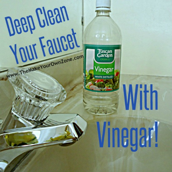 How to remove mineral deposits on a faucet using vinegar