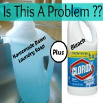 Can you add bleach to homemade laundry soap made with Dawn?