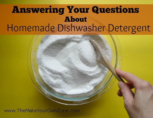 FAQ about homemade dishwasher detergent