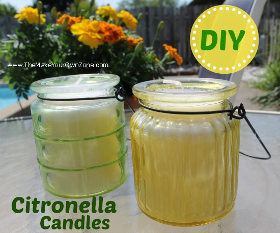 Diy Citronella Candles The Make Your Own Zone