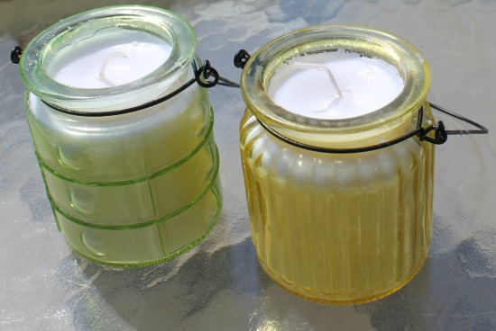 Homemade Citronella Candle