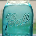 Ball canning jar with old logo