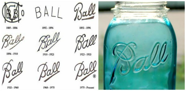 Ball canning jar logos