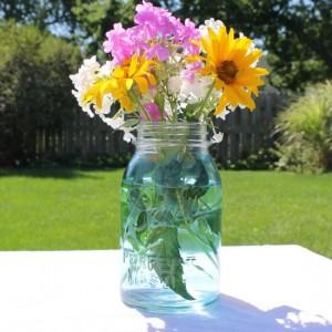 canning jar vase