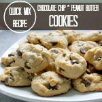 Quick Mix Chocolate Chip Peanut Butter Cookies