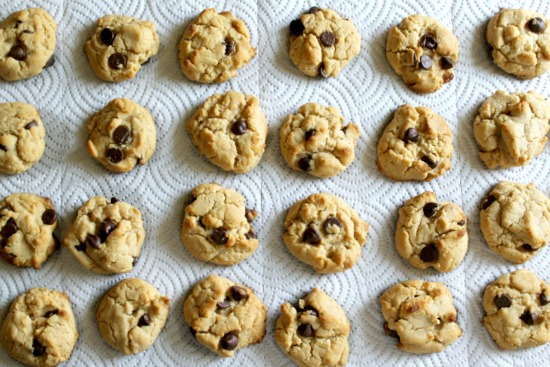 Homemade chocolate chip peanut butter cookies