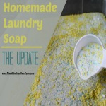Homemade Laundry Soap:  The Update