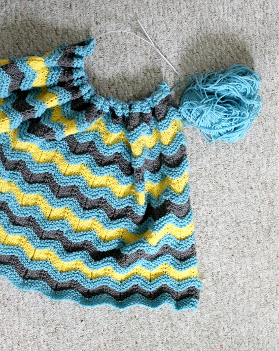 Knitting Pattern For Rippling Waves Afghan : Knitting Pattern for Classic Ripple Baby Afghan