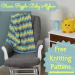 Knitting Pattern for Classic Ripple Baby Afghan