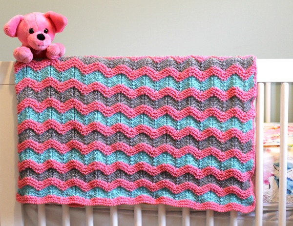 Knitted Baby Afghan Free Patterns : Knitting Pattern for Classic Ripple Baby Afghan