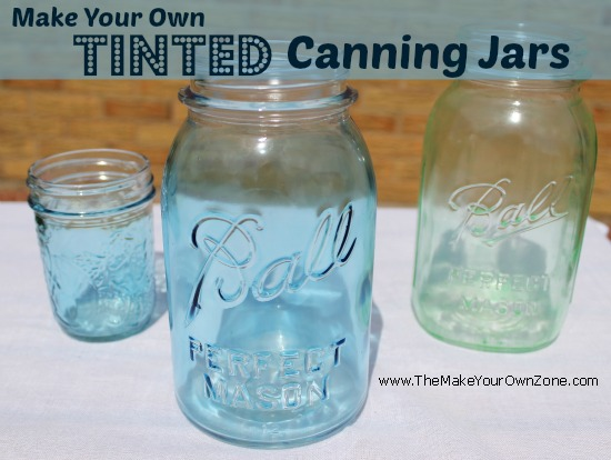 Make your own tinted Mason canning jars