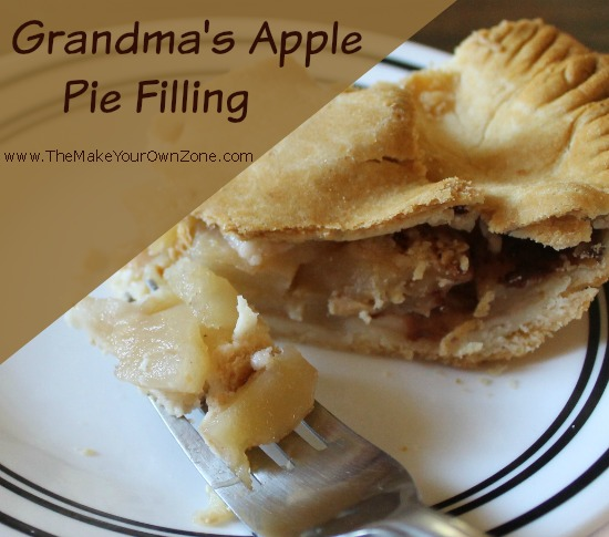 Grandma's Apple Pie Filling Recipe
