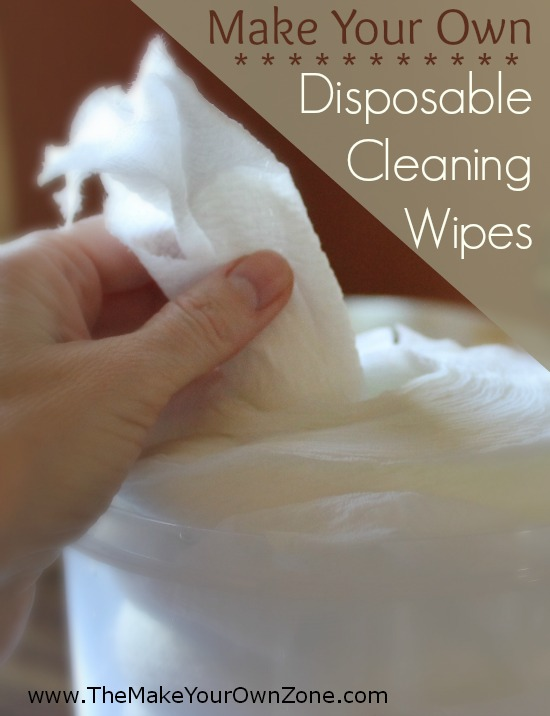 How to make homemade cleaning wipes