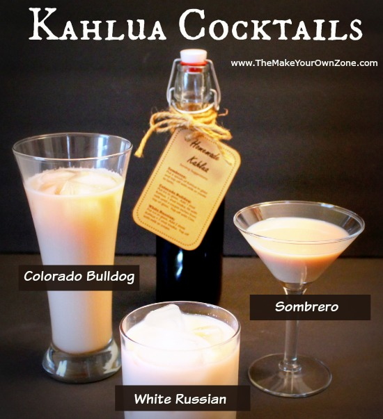How to make Kahlua cocktails, colorado bulldog, white russian, sombrero