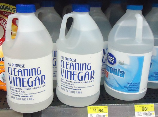 cleaning vinegar on store shelf