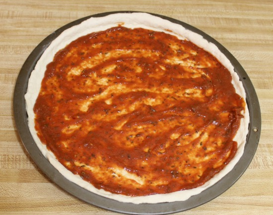 recipe for homemade pizza crust and sauce