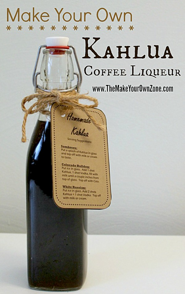 Recipe for homemade Kahlua - make your own tasty coffee liqueur!