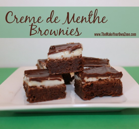 recipe for creme de menthe brownies