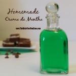 How to make homemade Creme de Menthe
