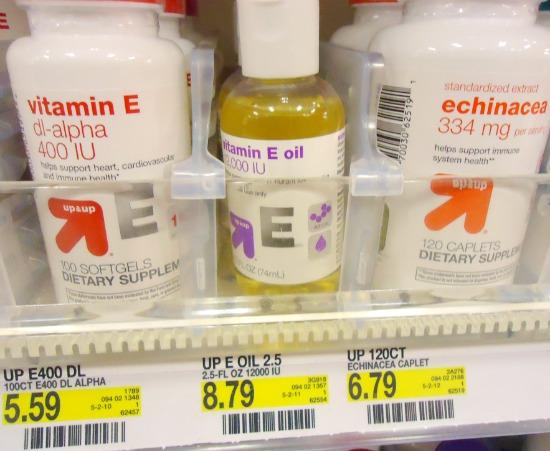 Vitamin E Oil in the store