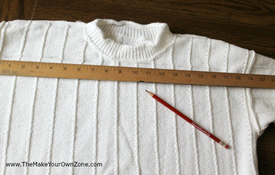 How to sew a sweater pillow