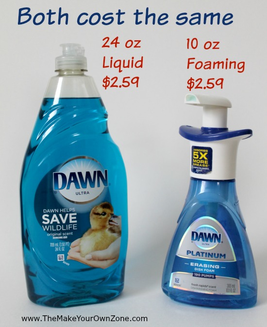 How to stretch your liquid dish soap and save money - learn how to make your own foaming dish soap