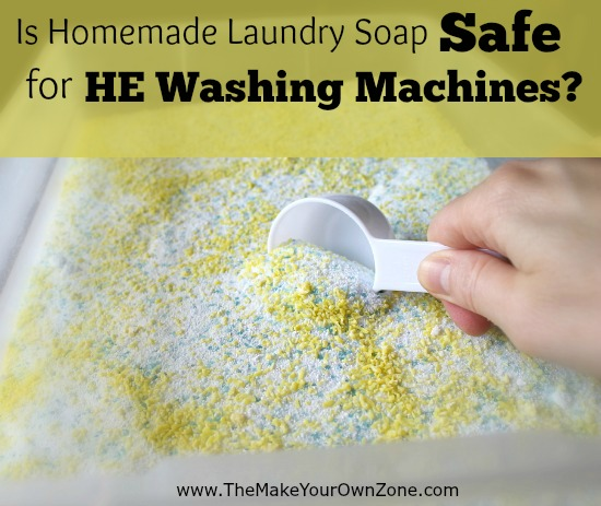 Homemade Laundry Soap in HE Washers