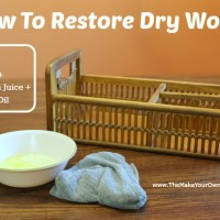 How To Restore Dry Wood:  Project #2