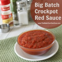 Big Batch Crockpot Red Sauce