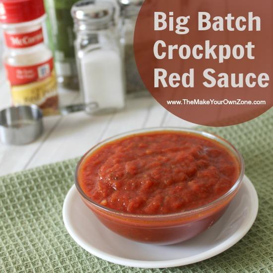 Big Batch Crockpot Red Sauce