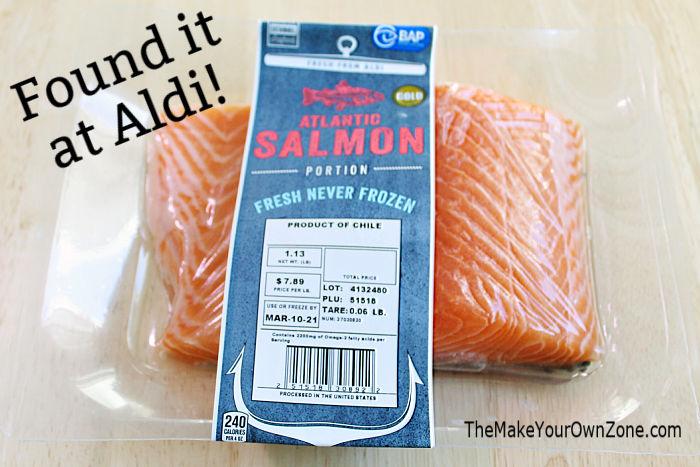 Salmon recipe using salmon purchased at Aldi