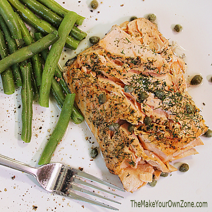 Easy Salmon With Lemon, Dill & Capers