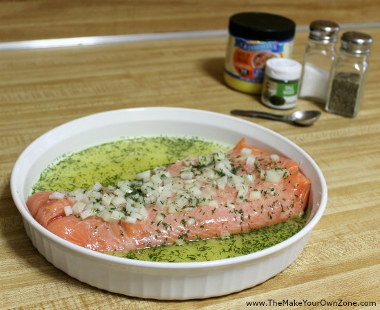 How to cook salmon with lemon and dill