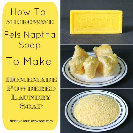 How to microwave Fels Naptha Soap to make Homemade Powdered Laundry Soap