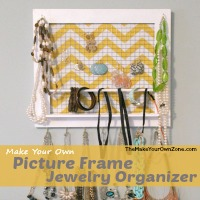 How to make a jewelry organizer from a picture frame