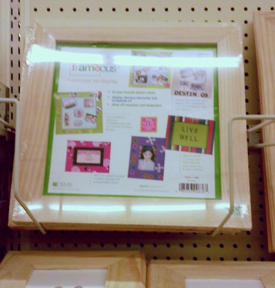 picture frame used for a jewelry organizer