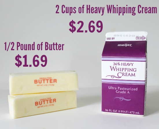 How does the price of homemade butter compare to store bought butter