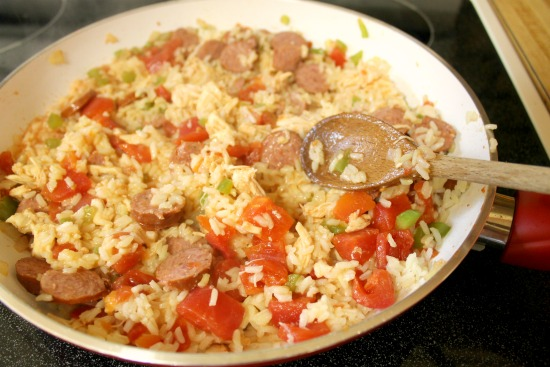 Recipe for skillet Jambalaya using a homemade cajun seasoning blend