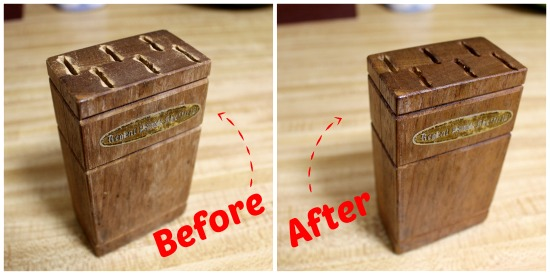 Homemade solution to restore dry wood