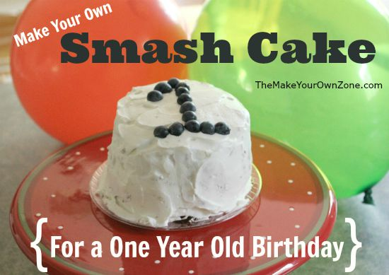 How to make a one year old birthday party smash cake