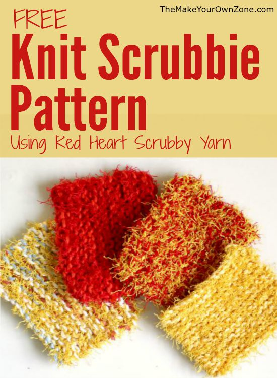 Knitting Patterns Red Heart Yarn : Knit Scrubbie Pattern Using Red Heart Scrubby Yarn