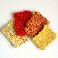 Knit Scrubbie Pattern Using Red Heart Scrubby Yarn