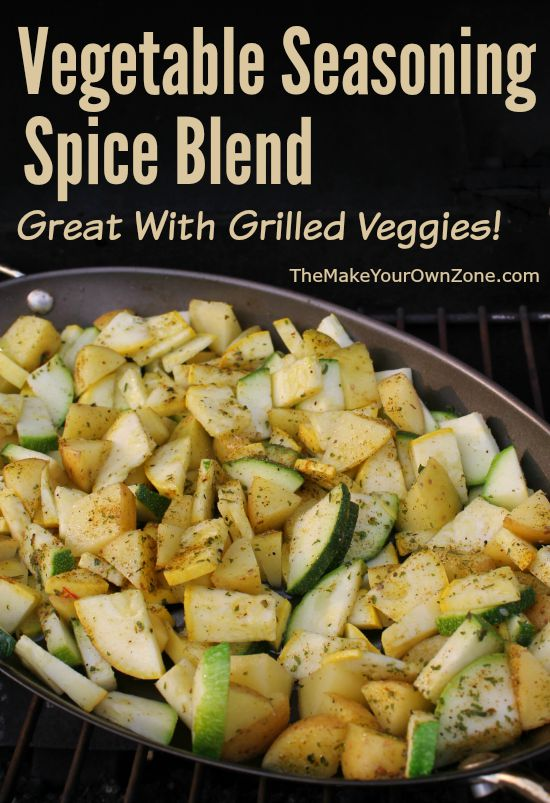 Make your own vegetable seasoning spice blend - a money saver that tastes great on any grilled or cooked vegetables.