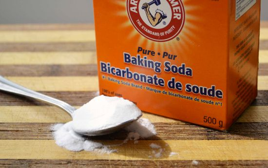Use baking soda as a natural substitute for scouring powders