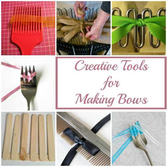 How to use common household tools to tie cute bows