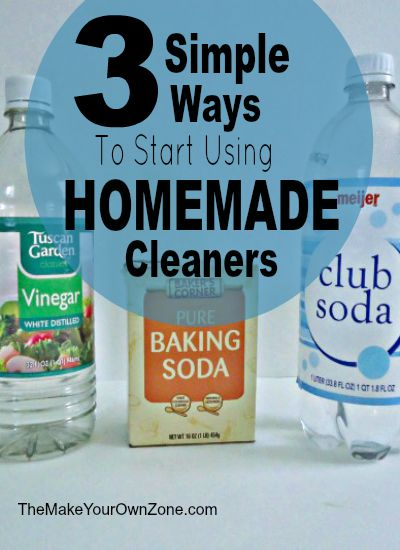 Three simple ways to make your own cleaners - Easy substitutions you can make with common grocery store items that are natural and save money too!