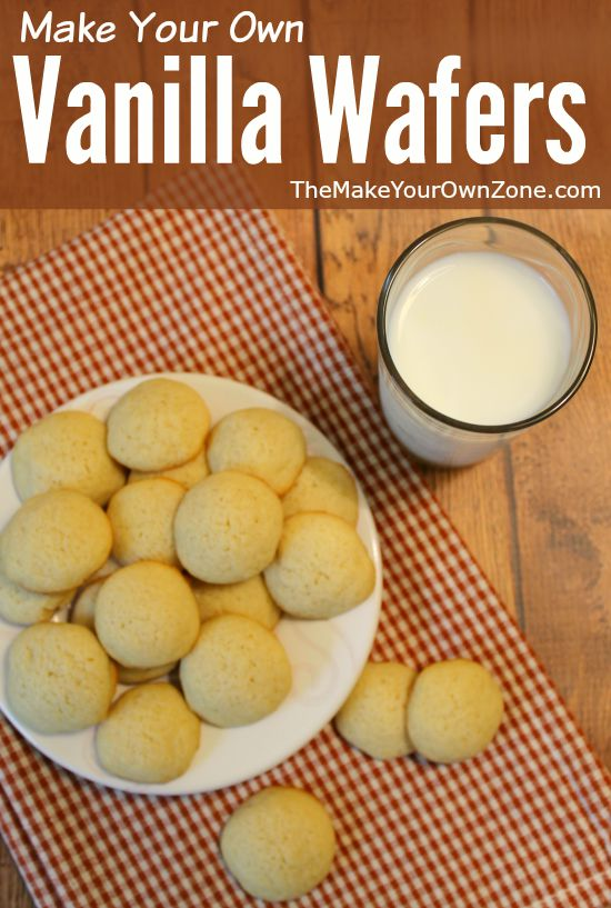 Recipe to make your own vanilla wafers