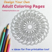 Make And Print Your Own Coloring Pages